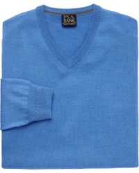 Jos. A. Bank - Blue Traveler Collection Merino V Neck Sweater - Big And Tall Clearance for Men - Lyst