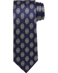 Jos. A. Bank - Blue Executive Collection Oval Medallion Tie for Men - Lyst