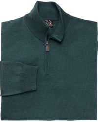 Jos. A. Bank - Green Traveler Collection Half-zip Merino Wool Sweater - Big & Tall Clearance for Men - Lyst