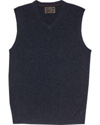 Jos. A. Bank Blue Reserve Collection Cashmere V-neck Sweater Vest for men