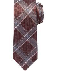 Jos. A. Bank - Purple Reserve Collection Basketweave Plaid Tie - Long for Men - Lyst