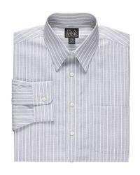 Jos. A. Bank - Blue Traveler Point Collar Wide Stripe Dress Shirt Clearance for Men - Lyst