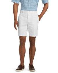 Jos. A. Bank - White Traveler Collection Tailored Fit Twill Shorts for Men - Lyst
