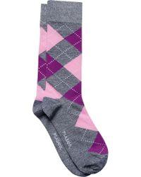 Jos. A. Bank - Blue Argyle Socks, One-pair for Men - Lyst
