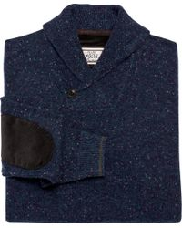 Jos. A. Bank - Blue 1905 Donegal Shawl-collar Sweater - Big & Tall for Men - Lyst