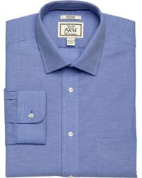 Jos. A. Bank - Blue 1905 Collection Slim Fit Spread Collar Chambray Dress Shirt - Big & Tall for Men - Lyst