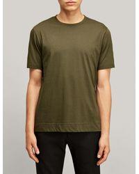 Joseph - Green Tee-shirt en jersey mercerisé for Men - Lyst