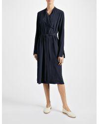 JOSEPH - Blue Crepe De Chine New Duke Dress - Lyst
