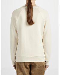 JOSEPH | Natural Loop Back Eyelet Sweater | Lyst