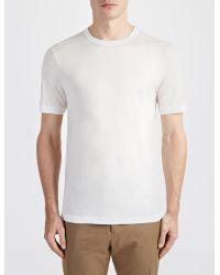 JOSEPH | White Lyocell Jersey Tee for Men | Lyst