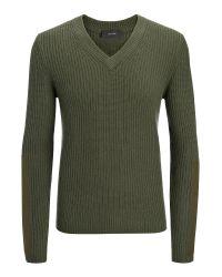 JOSEPH   Green Military Cashmere V Neck Sweater for Men   Lyst