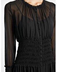 JOSEPH - Black Georgette Cora And Slip Dress - Lyst
