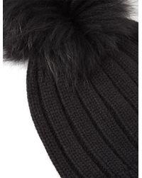 Joseph - Black Cashmere Luxe Pompom Hat - Lyst