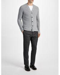 JOSEPH - Multicolor Cardigan Stitch Cashmere Cardigan for Men - Lyst