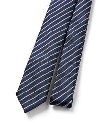 JOSEPH - Blue Stripe Tie for Men - Lyst