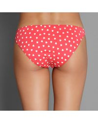 Only Hearts - Red Heart Print Organic Cotton French Bikini - Lyst