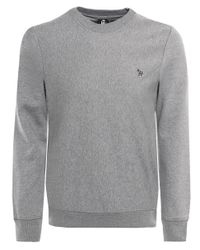 PS by Paul Smith | Gray Organic Cotton Zebra Sweatshirt for Men | Lyst