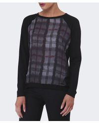 Barbour - Black Millfire Checked Top - Lyst