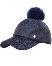 PS by Paul Smith - Blue Camo Pom Pom Baseball Cap - Lyst