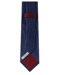 Eton of Sweden | Blue Scalloped Semi Circle Silk Tie for Men | Lyst