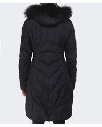Creenstone - Black Eugenie Fur Trim Coat - Lyst