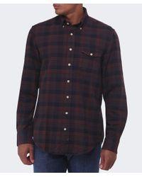 Gant - Brown Merrick Oxford Check Shirt for Men - Lyst