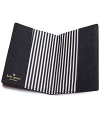 Kate Spade - Black Antoine Frenchie Passport Cover - Lyst