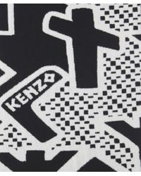 KENZO - Black Artwork Print Stole - Lyst