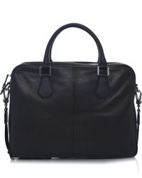Vivienne Westwood Black Leather Milano Briefcase for men