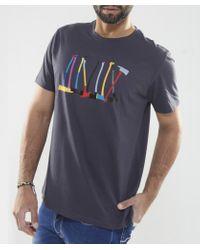 Paul Smith - Blue Axe Print T-Shirt for Men - Lyst