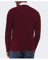 BOSS Orange - Red Acestas Wool V-neck Jumper for Men - Lyst