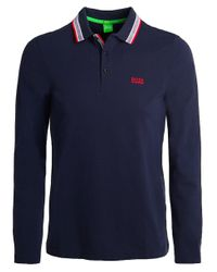 BOSS - Blue Modern Fit Plisy Polo Shirt for Men - Lyst