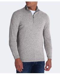 BOSS Green - Gray Virgin Wool Half-zip C-ceno_03 Jumper for Men - Lyst