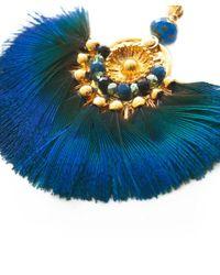 Gas Bijoux - Blue Gaia Feather Earrings - Lyst