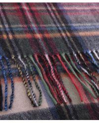 Jules B - Purple Wool Tartan Scarf for Men - Lyst