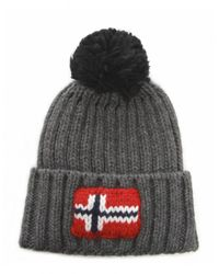 Napapijri   Gray Semiury Bobble Hat for Men   Lyst