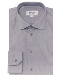 Eton of Sweden | Gray Contemporary Fit Twill Shirt for Men | Lyst