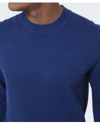 Paul Smith - Blue Ribbed Crew Neck Jumper for Men - Lyst