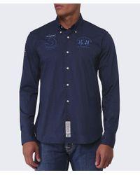 La Martina - Blue Slim Fit No. 3 Shirt for Men - Lyst