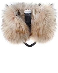 Yves Salomon - Natural Fur Collar With Chain - Lyst