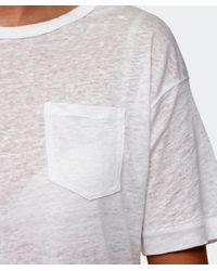 Rag & Bone - White Croppe Deal T-shirt - Lyst