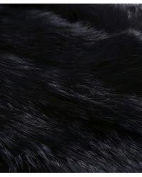 Yves Salomon | Black Fur Loop Scarf | Lyst