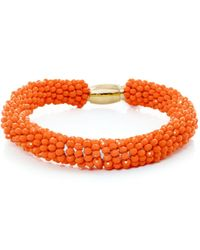 Butterfly - Orange Marrakesh Beaded Bangle - Lyst