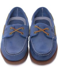 Timberland - Gray Distressed 2 Eye Boat Shoes - Lyst