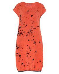 Grizas - Orange Linen Bubble Hem Dress - Lyst