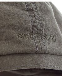 Stetson - Gray Organic Cotton Hatteras Delave Cap for Men - Lyst