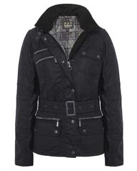 Barbour | Black Fireblade Belted Wax Jacket | Lyst