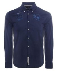 La Martina - Blue Slim Fit No. 3 Shirt for Men - Lyst