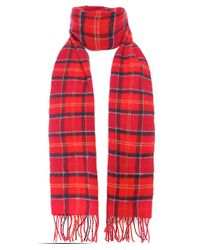 Barbour - Red Classic Tartan Lambswool Scarf for Men - Lyst