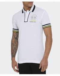 La Martina - White Pique Cornelius Polo Shirt for Men - Lyst
